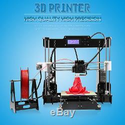Anet A8 3D Printer Precision Reprap Prusa Kit 1.75mm 0.4mm ABS/PLA/HIPS/WOOD/PVA