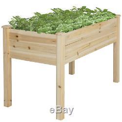 BCP Wooden Raised Vegetable Garden Bed Planter Kit Grow Gardening Vegetables