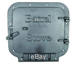 Barrel Stove Kit Vogelzang BSK1000 Cast Iron Convert Steel Drum Wood Burning