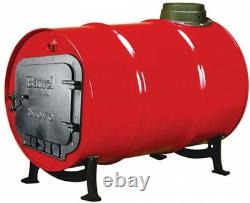 Barrel Stove Kit Wood Burning Double Drum Adapter Cabin Garage Heater Pole Barn
