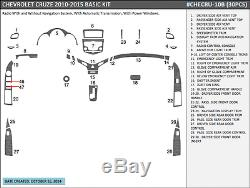 Basic Dash Trim Kit 30 Pcs Fits Chevy Cruze 2010-2015 Wood, Carbon