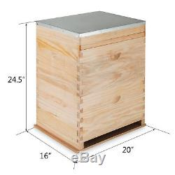 Bee Hive Complete Beekeeping 2 Layers Box Kit 1 medium / 1 Deep Langstroth Hive