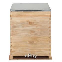 Beehive 2 Layers Complete Box Kit (1 Deep-1 Medium) Langstroth Beekeeping