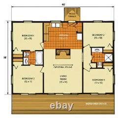 Big Pine Ranch 28 x 40 Customizable Shell Kit Home, delivered ready to build