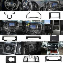 Black Wood Car Interior Decoration Trim Cover Kit For 2015+ Ford F150 2020 F250