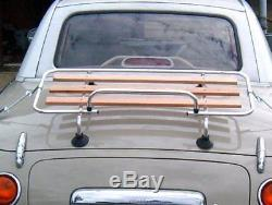 Boot luggage rack, Nissan Figaro, classic aluminium / wood slats & fitting kit
