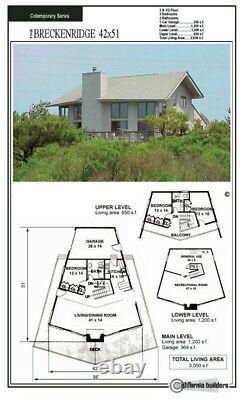 Breckenridge Retreat 42x51 Customizable Shell Kit Home, delivered ready to build