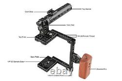 CAMVATE DSLR Camera Cage Kit Top Handle Wood Grip for Canon GH5/GH4 700D Sony