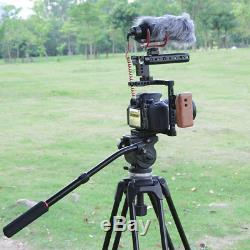 CAMVATE Right Side DSLR Camera Cage Kit WithWood Grip for Canon 650D GH5/GH4