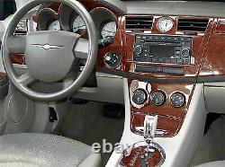 CHRYSLER 300 2005-2007 WOOD DASH TRIM REDUCED KIT 19 PCS WithO GPS SYSTEM INTERIOR