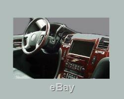 Cadillac Escalade Fits 2007 -2010 With Gps 30pcs New Interior Wood Dash Trim Kit
