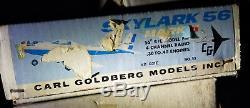Carl Goldberg models inc. Skylark 56 Mark II Kit G21II #53 NEW RARE VINTAGE