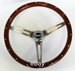 Chevelle Camaro El Camino Nova 15 Wood Steering Wheel Rivets High Gloss SS Cap