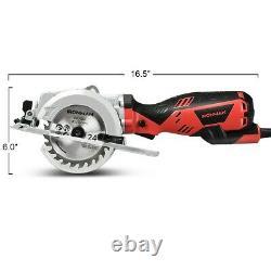 Circular Saw Mini Handheld Compact Saws Corded Hand Electric Saw Kit Wood 4-1/2