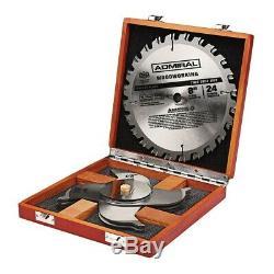 Circular Table Saw Blade Set 8 in. X 24-Teeth Stacked Dado Kit Carbide Steel