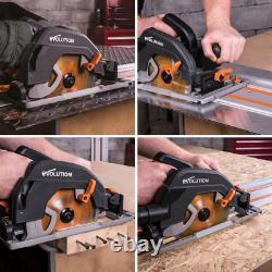 Circular Track Saw Kit Tool Electric Brake Multi Material Blade 15 Amp 7-1/4 in