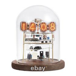 Classic Vintage IN-12 Nixie Tube Clock Kit DIY / Assembled With Round Glass Case