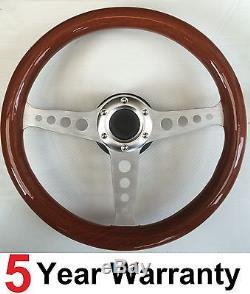 Classic Vintage Wood Rim Steering Wheel Fit Omp Sparco Mountney Momo Boss Kit