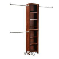 ClosetMaid Closet System 48 in. W 108 in. W 8-Shelves Wood Dark Cherry