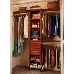 ClosetMaid Closet System 48 in. W 108 in. W Adjustable Wood Dark Cherry