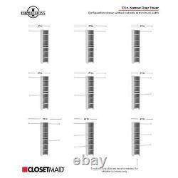 ClosetMaid Wood Closet Organizer Wall Mount Kit 3 Adjustable Hang Rods 8 Shelves