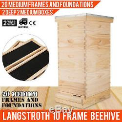 Complete 10 Frame Bee Hive 4 Box With Frames Beehive Frame for Beekeeping Kit