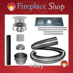 Complete 10m chimney liner install kit 5 (125mm x 10m) for wood burning stoves