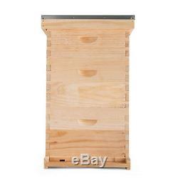 Complete Beekeeping 10 Frame Beehive Box Kit 10 medium / 20 Deep Langstroth Hive