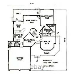 Copley Country 64x51 Customizable Shell Kit Home, delivered ready to build
