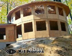 Crawford 32' 2-story Round Customizable Shell Kit Home, delivered ready to build