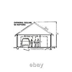 Cuevita 26x26 Garage Customizable Shell Kit Workshop, delivered ready to build