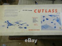 Cutlass Supreme Mark II 60 Pattern R/c airplane balsa Kit Don Coleman Vintage 70
