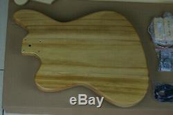 DIY/Build Your Own GUITAR KIT J Master Thinline Edge Bound Dark Zebra Wood Top