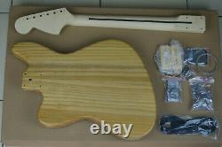 DIY/Build Your Own GUITAR KIT J Master Thinline Edge Bound Light Zebra Wood Top