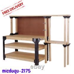 DIY Custom Workbench Storage Assembly Kit Workshop Shelf Garage Shop Table Bench