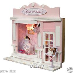 DIY Handcraft Miniature Project Kit Dolls House European The Wedding Dress Shop