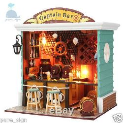 DIY Handcraft Miniature Project Kit The Captain's Bar Wooden Dolls House