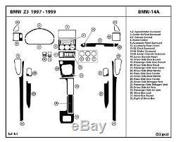 Dash Kit Trim for BMW Z3 97-99 Wood Carbon Interior Tuning Detailing Dashboard