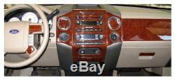 Dash Kit Trim for Ford F-150 04-08 with bench seats Wood Carbon FD-31D 34 pcs