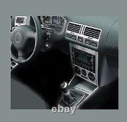 Dash Trim Auto Kit 33ps Fit Vw Golf Mk4 1999- 2004 Coupe Wood Alum Dash Trim Kit