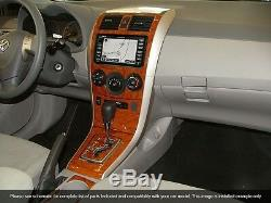 Dash Trim Basic Kit 24 Pcs Fits Toyota Corolla 2009-2013 Wood, Carbon