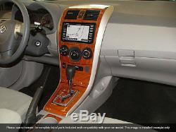 Dash Trim Kit 24 Pcs Fits Toyota Corolla 2009-2013 Wood Carbon Aluminum