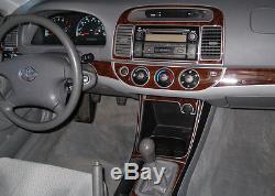Dash Trim Kit 30 Pcs Fits Toyota Camry 2002 2003 2004 Wood Carbon Aluminum