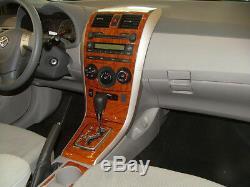 Dash Trim Kit 30 Pcs Fits Toyota Corolla 2003-2008 Wood Carbon Fiber Aluminum