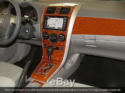 Dash Trim Kit 36 Pcs Fits Toyota Corolla 2009-2013 Wood Carbon Aluminum