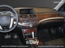 Dash Trim Kit 56 Pcs Fits Honda Accord 2008 09 10 11 12, 4 Door Wood Carbon