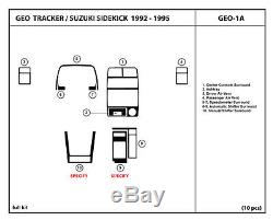 Dash Trim Kit Set for Geo Tracker / Suzuki Sidekick 92-95 Wood Carbon Interior