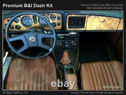 Dash Trim Kit for MG MGB 77 78 79 80 carbon fiber wood aluminum