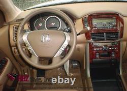 Dash Trim Premium Kit 22pcs Fits Honda CIVIC 2003-2005 2 Door Aut Tr Wood Carbon