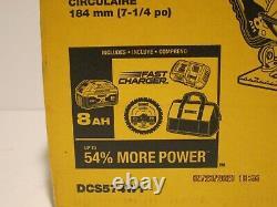 DeWalt DCS574W1 20V MAX XR Li-Ion 7-1/4 in. Cordless Circular Saw Kit (8 Ah)